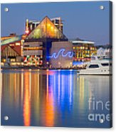 Baltimore National Aquarium At Twilight I Acrylic Print