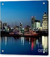 Baltimore Skyline At Dusk Acrylic Print