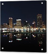 Baltimore Skyline At Night Acrylic Print