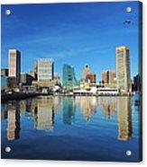 Baltimore Skyline From The Innner Harbor Acrylic Print