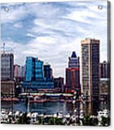 Baltimore Skyline Acrylic Print by Olivier Le Queinec