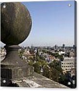 Balustrade And Views From The Westerkerk In Amsterdam Netherlands Acrylic Print