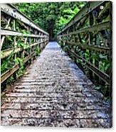 Bamboo Forest Bridge Acrylic Print