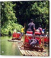 Bamboo River Rafting Acrylic Print