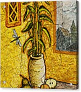 Bamboo Acrylic Print by Sergey Khreschatov
