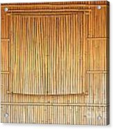 Bamboo Wall And Shutters Acrylic Print