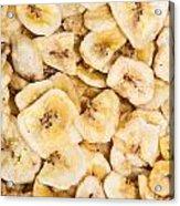 Banana Chips Background Acrylic Print