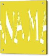 Banana Manna - Yellow - Color - Letter Art Acrylic Print