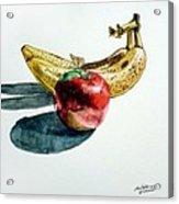 Bananas And An Apple Acrylic Print