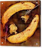 Bananas Pop Art Acrylic Print
