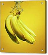 Bananas Splashed Into Water Acrylic Print