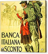 Banca Italiana Di Sconto, 1917 Acrylic Print