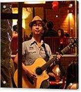 Band At Palaad Tawanron Restaurant - Chiang Mai Thailand - 01133 Acrylic Print