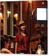 Band At Palaad Tawanron Restaurant - Chiang Mai Thailand - 01137 Acrylic Print
