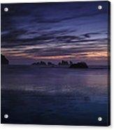 Bandon Beach At Twilight Acrylic Print by Andrew Soundarajan
