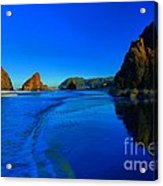 Bandon Blue And Gold Acrylic Print by Adam Jewell