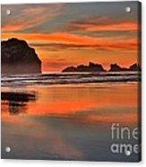 Bandon Orange Pastels Acrylic Print