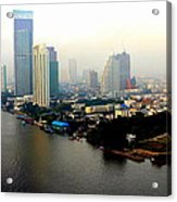 Bangkok In Early Morning Light Acrylic Print