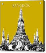 Bangkok Thailand Skyline Wat Arun - Gold Acrylic Print