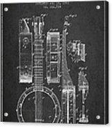 Banjo Patent Drawing From 1882 Dark Acrylic Print