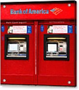 Bank Of America Automated Teller Machine - Painterly - 5d20737 Acrylic Print