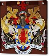 Bank Of Bermuda Coat Of Arms Acrylic Print