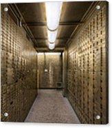 Bank Safe Deposit Boxes Acrylic Print