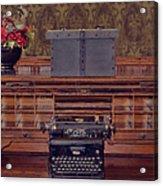 Bank - Secretary Acrylic Print by Liane Wright