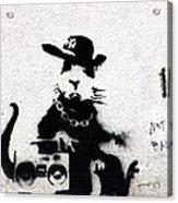 Banksy Boombox  Acrylic Print