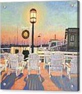 Bannister's Wharf Newport Ri Acrylic Print by Betty Ann Morris