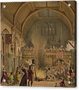 Banquet In The Baronial Hall, Penshurst Acrylic Print
