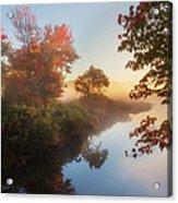 Bantam River Sunrise Acrylic Print by Bill Wakeley
