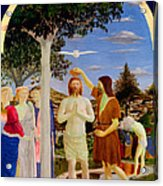 Baptism Of Christ - Oil On Canvas Acrylic Print