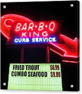 Bar B Q King In Charlotte N C Acrylic Print by Randall Weidner