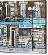 Bar De Courcelle St-henri Acrylic Print