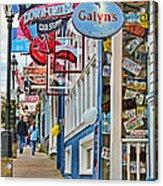 Bar Harbor Sidewalk Acrylic Print