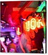 Bar Top Dancer Acrylic Print