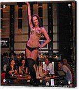 Bar Top Dancer In Las Vegas Acrylic Print