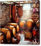 Bar - Wine - The Wine Cellar  Acrylic Print by Mike Savad