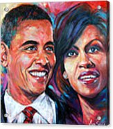 Barack And Michelle Obama Acrylic Print