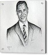 Barack Obama 2 Acrylic Print