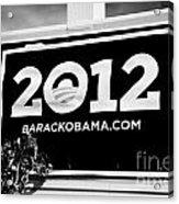 Barack Obama 2012 Us Presidential Election Poster Florida Usa Acrylic Print by Joe Fox