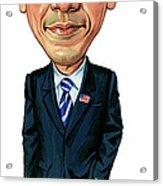 Barack Obama Acrylic Print by Art