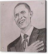 Barack Obama Acrylic Print by Artistic Indian Nurse