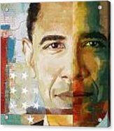 Barack Obama Acrylic Print by Corporate Art Task Force