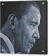 Barack Obama Acrylic Print by David Dunne