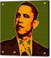 Barack Obama Lego Digital Painting Acrylic Print