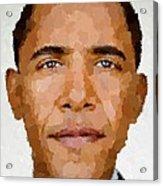 Barack Obama Acrylic Print by Samuel Majcen