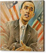 Barack Obama Taking It Easy Acrylic Print