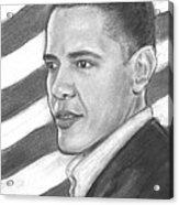 Barack Acrylic Print by Sue Carmicle